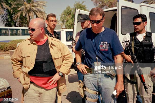 American Interior Minister of the Iraqi Coalition Provisional Authority and former law enforcement official Bernard Kerik and Special Adviser to the...