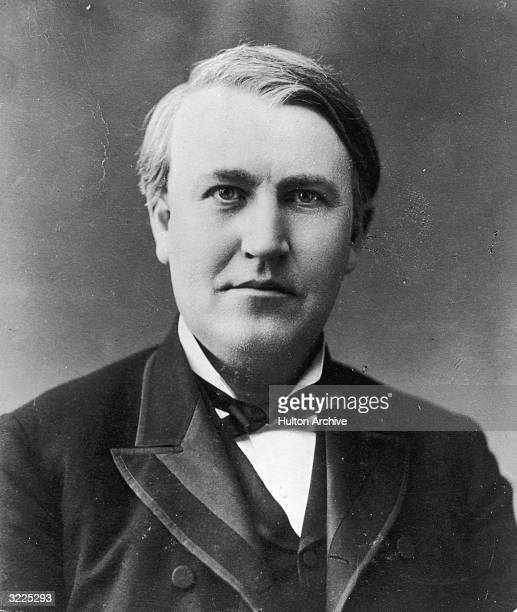 American inventor Thomas Alva Edison His inventions include the phonograph the mimeograph and developed the kinescope and a prototype of the motion...