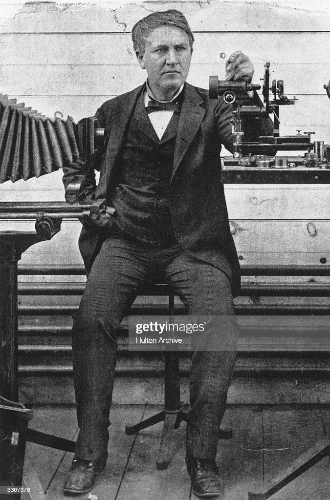 American inventor Thomas Alva Edison (1847-1931), whose development of a practical electric light bulb, electric generating system, sound-recording device, and film projector had profound effects on the shaping of modern society.
