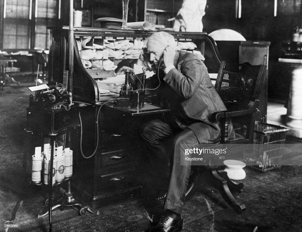Edison's Telescribe : News Photo