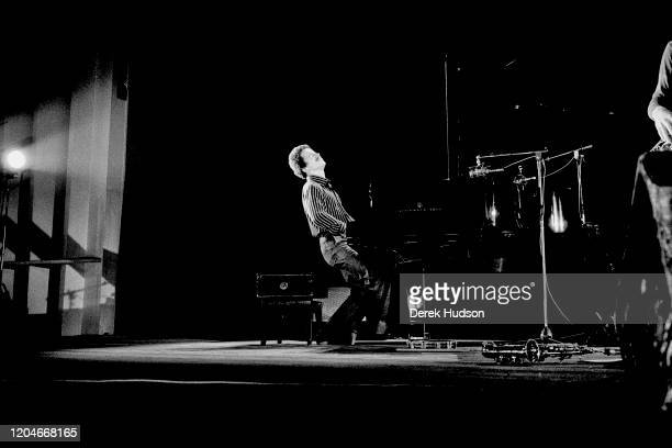 American Jazz and Classical musician Keith Jarrett plays piano as he performs onstage at the Palais des Congres, Paris, France, May 8, 1976. The...
