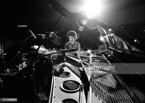 American jazz and composer Keith Jarrett performing at Berlin Jazz Festival, Germany, 1973.