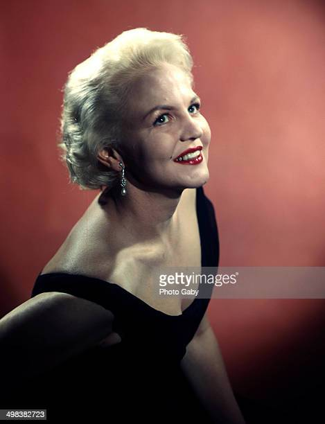 American jazz and pop singer and songwriter Peggy Lee 1957