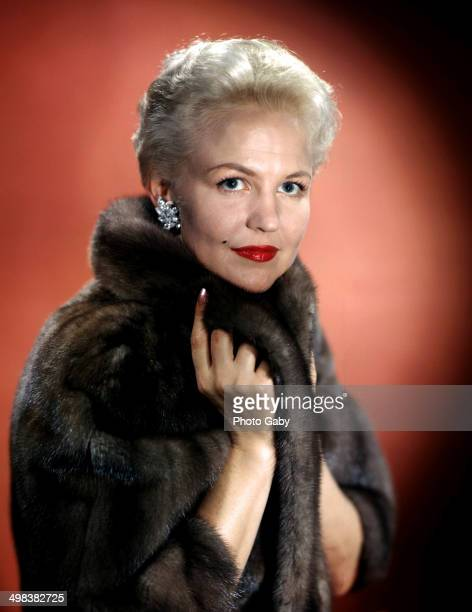 American jazz and pop singer and songwriter, Peggy Lee ,1957.