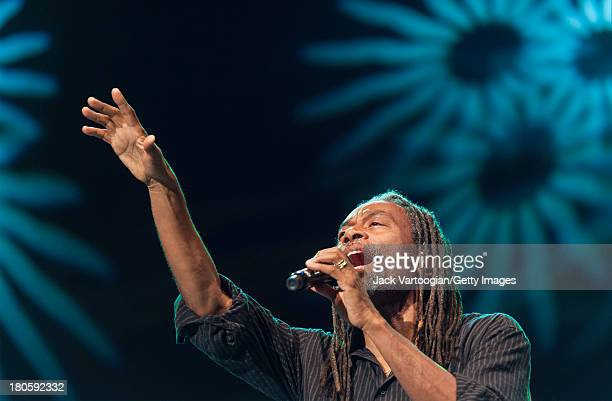 American Jazz and Pop vocalist Bobby McFerrin performs with his band at Central Park SummerStage New York New York August 20 2013