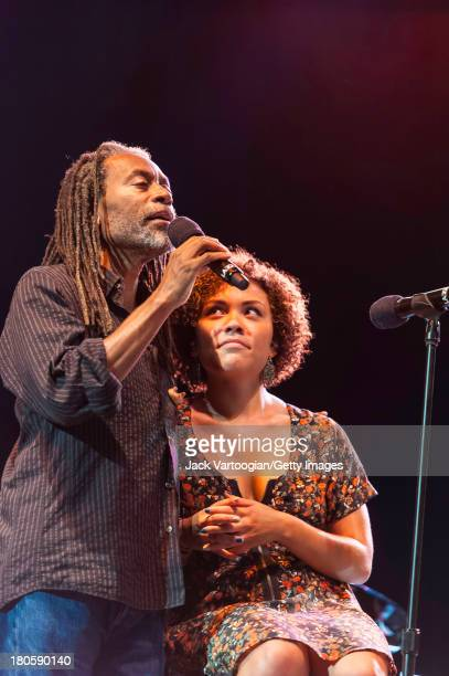 American Jazz and Pop vocalist Bobby McFerrin performs with his daughter singer Madison McFerrin at Central Park SummerStage New York New York August...