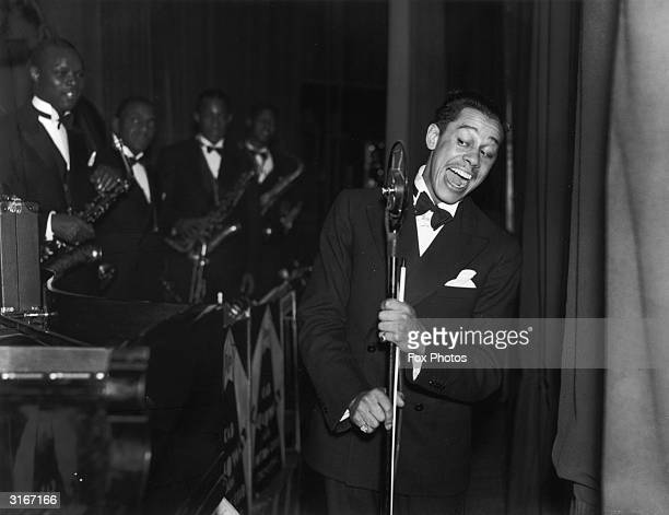 American jazz band leader and singer Cab Calloway at the Trocedero Elephant and Castle south London