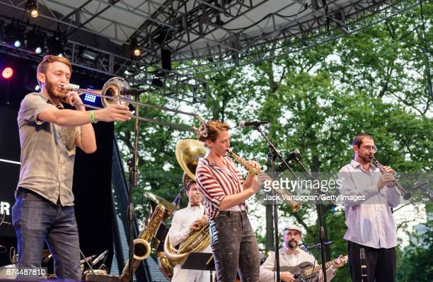 American Jazz band the Royal Roses perform at a celebration of Parisian and New York Hot Jazz Swing Ragtime in commemoration of WWI at Central Park...