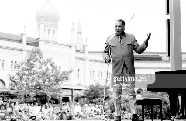 American jazz bandleader composer and pianist Duke Ellington performing at Tivoli Gardens Copenhagen Denmark July 1970