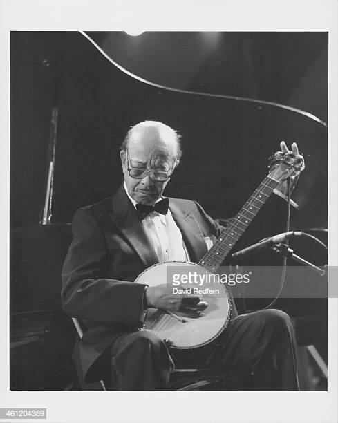 American jazz banjoist and musician Danny Barker on stage circa 19801990