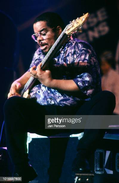 American jazz bassist Anthony Jackson performing at North Sea Jazz Festival The Hague Netherlands July 1993