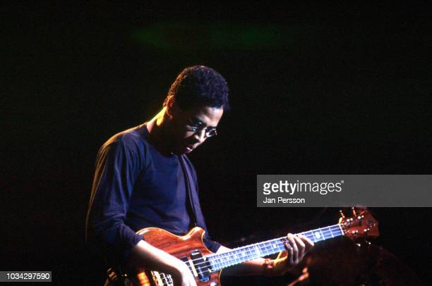 American jazz bassist Stanley Clarke at North Sea Jazz Festival, The Hague, Netherlands, July 1991.