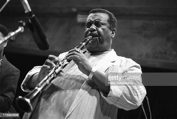 American jazz clarinet player Alvin Batiste performs at the BIM Huis in Amsterdam, Netherlands on 26th March 1989.