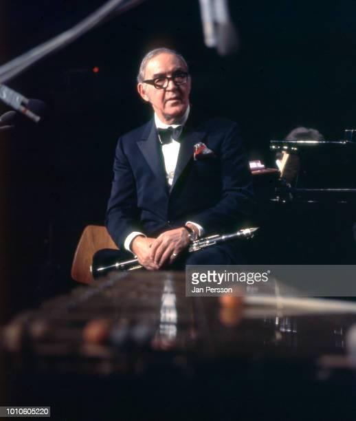 American jazz clarinetist Benny Goodman performing in Copenhagen Denmark March 13 1972