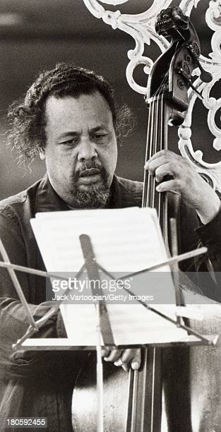 American jazz composer and bassist Charles Mingus leads his orchestra on the Jazzmobile 116th Street betwen Amsterdam Avenue and Morningside Drive...