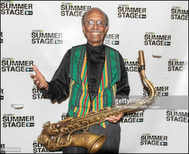 American Jazz composer arranger and musician Jimmy Heath backstage after conducting the newly updated version of his 2004 composition 'Bird is the...