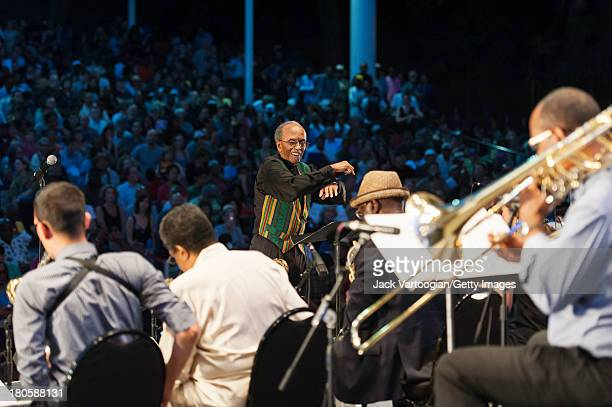 American Jazz composer arranger and musician Jimmy Heath conducts his Big Band in the premiere of the newly updated version of his 2004 composition...
