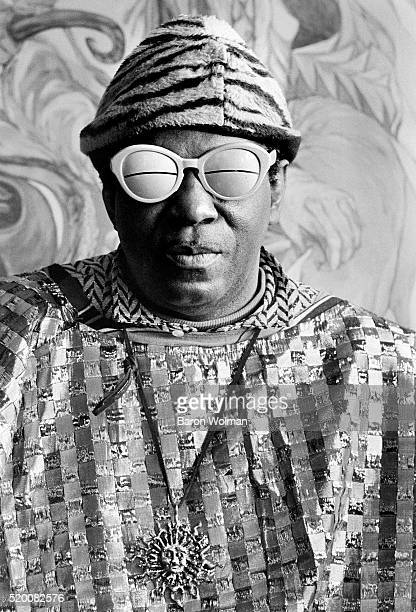 American jazz composer bandleader piano and synthesizer player poet and philosopher known for his 'cosmic philosophy' Sun Ra in Berkeley CA 1968 This...
