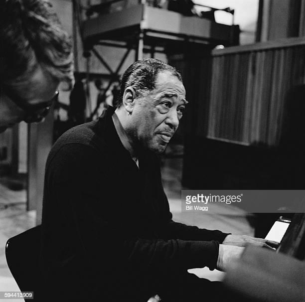 American jazz composer, pianist and bandleader Duke Ellington , circa 1960.