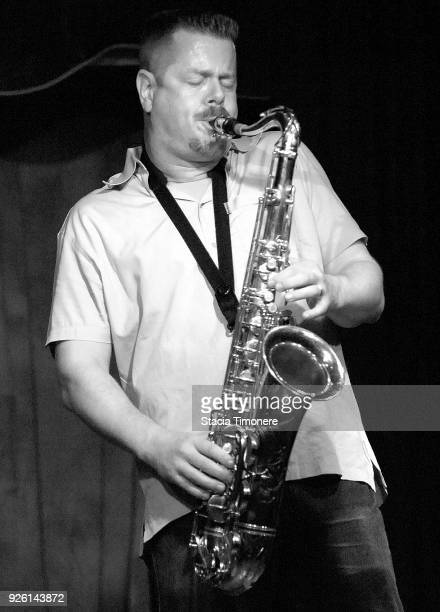 American jazz composer saxophonist and clarinetist Ken Vandermark plays at The Hideout in Chicago Illinois USA on August 20 2008