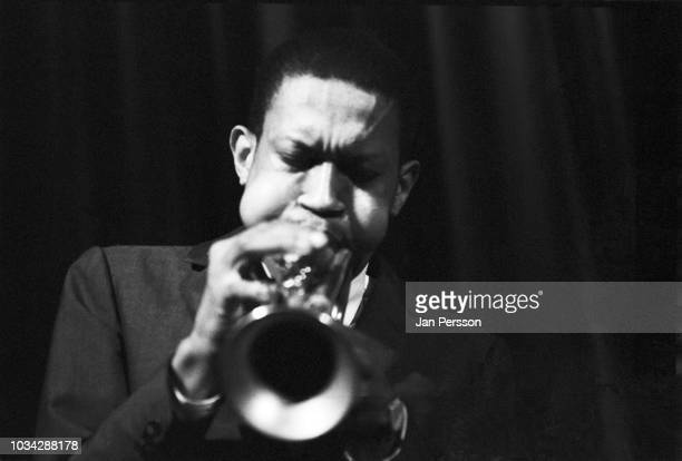 American jazz cornetist Don Cherry performing with Sonny Rollins Falconer Centret Copenhagen Denmark 1963