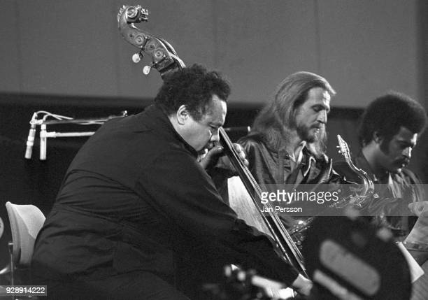 American jazz double bass player Charles Mingus performing with Bobby Jones and Charles McPherson at Berliner Jazz Tage Berlin Germany October 1970