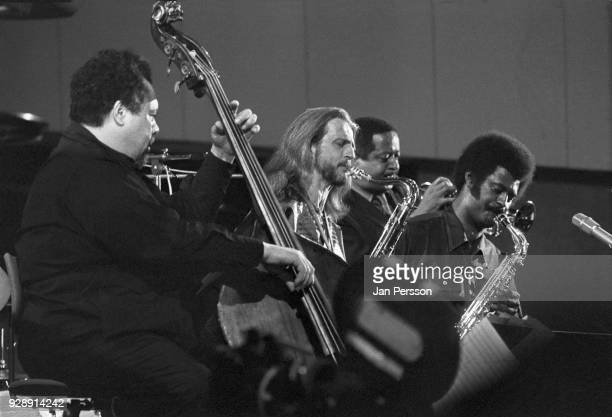 American jazz double bass player Charles Mingus performing with Bobby Jones Eddie Preston and Charles McPherson at Berliner Jazz Tage Berlin Germany...