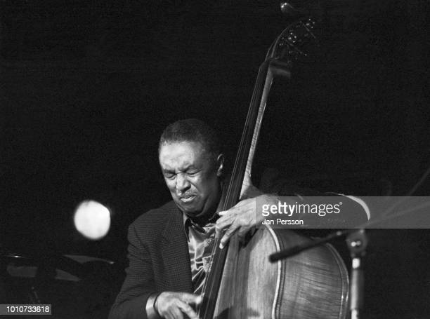 American jazz double bass player Ray Brown performing at Jazzhouse Slukefter Copenhagen 1990