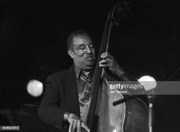 American jazz double bass player Ray Brown performing at Jazzhouse Slukefter Copenhagen Denmark 1990