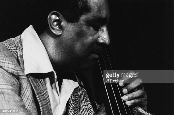 American jazz double bassist and cellist Ray Brown during rehearsals for 'Dizzy Gillespie Dream Band Jazz America' Carnegie Hall New York City 1981