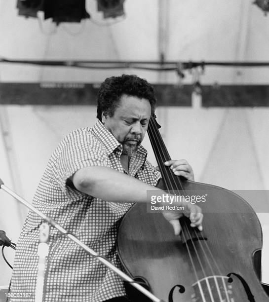 American jazz double bassist and composer Charles Mingus performing at the Newport Jazz Festival Newport Rhode Island July 1971