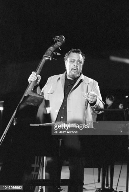 American jazz double bassist composer and bandleader Charles Mingus at Berliner Jazz Tage Berlin Germany 1975