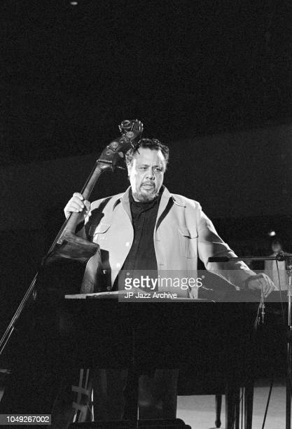 American jazz double bassist composer and bandleader Charles Mingus at Berliner Jazz Tage Berlin Germany 1975