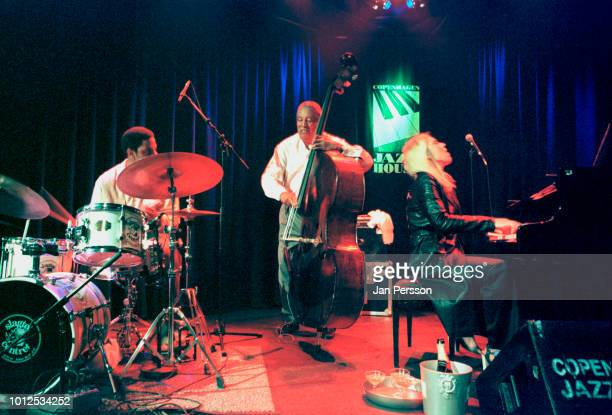 American jazz double bassist Ray Brown and American jazz singer and pianist Diana Krall performing at Copenhagen Jazz House Denmark July 2001