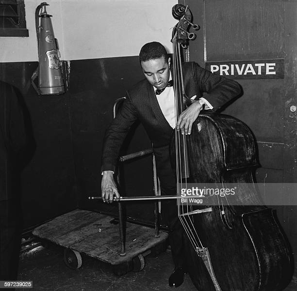 American jazz double bassist Ray Brown circa 1960