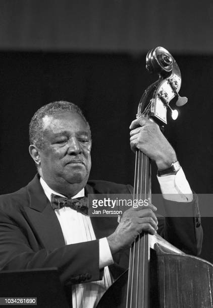 American jazz double bassist Ray Brown with Andre Previn Trio at Tivoli Gardens Copenhagen Denmark July 1995