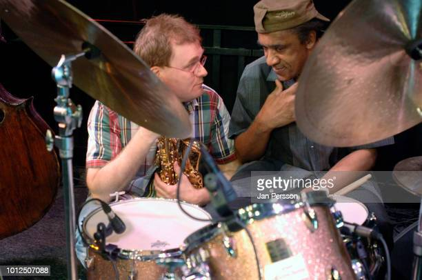 American jazz drummer Al Foster and Danish saxophonist Benjamin Koppel performing in Copenhagen Denmark July 6 2010