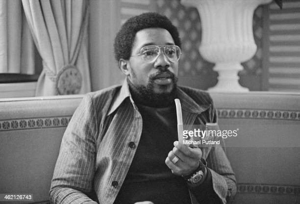 American jazz drummer and composer Billy Cobham, January 1974.