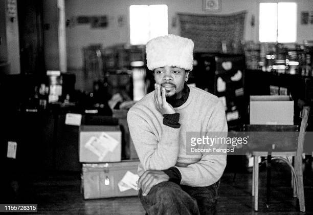 American jazz drummer and percussionist Don Moye poses for a portrait in 1979 in New York City New York