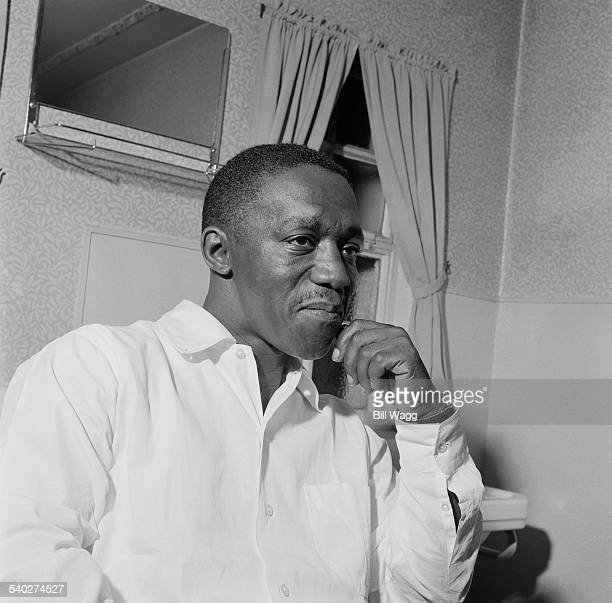 American jazz drummer Art Blakey at De Montfort Hall Leicester UK 2nd May 1961