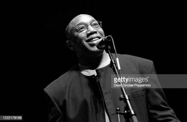 American jazz drummer Billy Cobham on stage at the Queen Elizabeth Hall in London on 22nd February 2002.