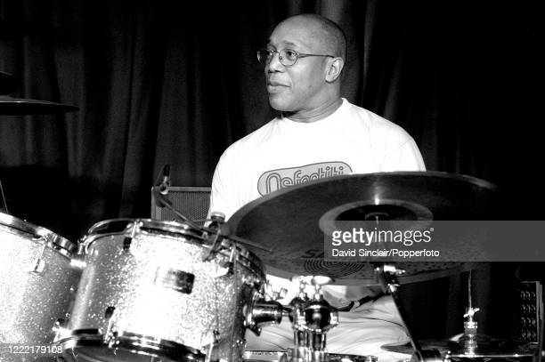 American jazz drummer Billy Cobham performs live on stage at Lock 17 Club in Camden, London on 6th November 2003.