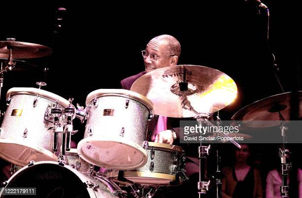 American jazz drummer Billy Cobham performs live on stage at Queen Elizabeth Hall in London on 22nd February 2002.