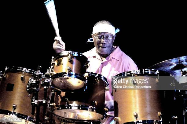 American jazz drummer Billy Cobham performs live on stage at Ronnie Scott's Jazz Club in Soho, London on 20th July 2006.