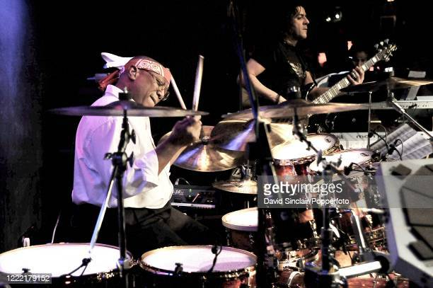 American jazz drummer Billy Cobham performs live on stage at Ronnie Scott's Jazz Club in Soho, London on 17th February 2010.