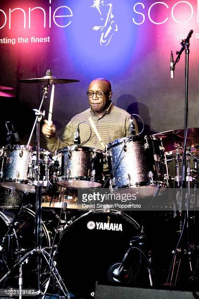 American jazz drummer Billy Cobham performs live on stage at Ronnie Scott's Jazz Club in Soho, London on 18th February 2013.