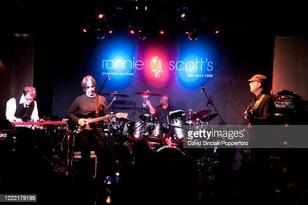American jazz drummer Billy Cobham performs live on stage with his band at Ronnie Scott's Jazz Club in Soho, London on 3rd February 2014.