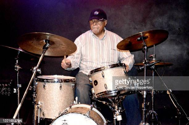 American jazz drummer Jimmy Cobb performs live on stage at Ronnie Scott's Jazz Club in Soho London on 31st July 2013