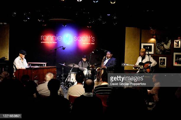 American jazz drummer Jimmy Cobb performs live on stage with Jazz Heads featuring Ike Stubblefield on organ Pee Wee Ellis on saxophone and Grant...
