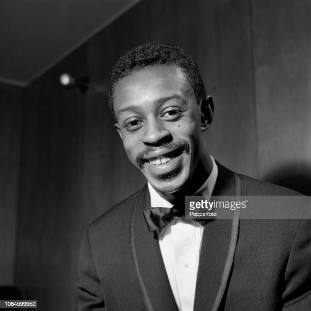 American jazz drummer Louis Hayes pictured backstage prior to performing with Jazz at the Philharmonic at the Royal Festival Hall in London in...